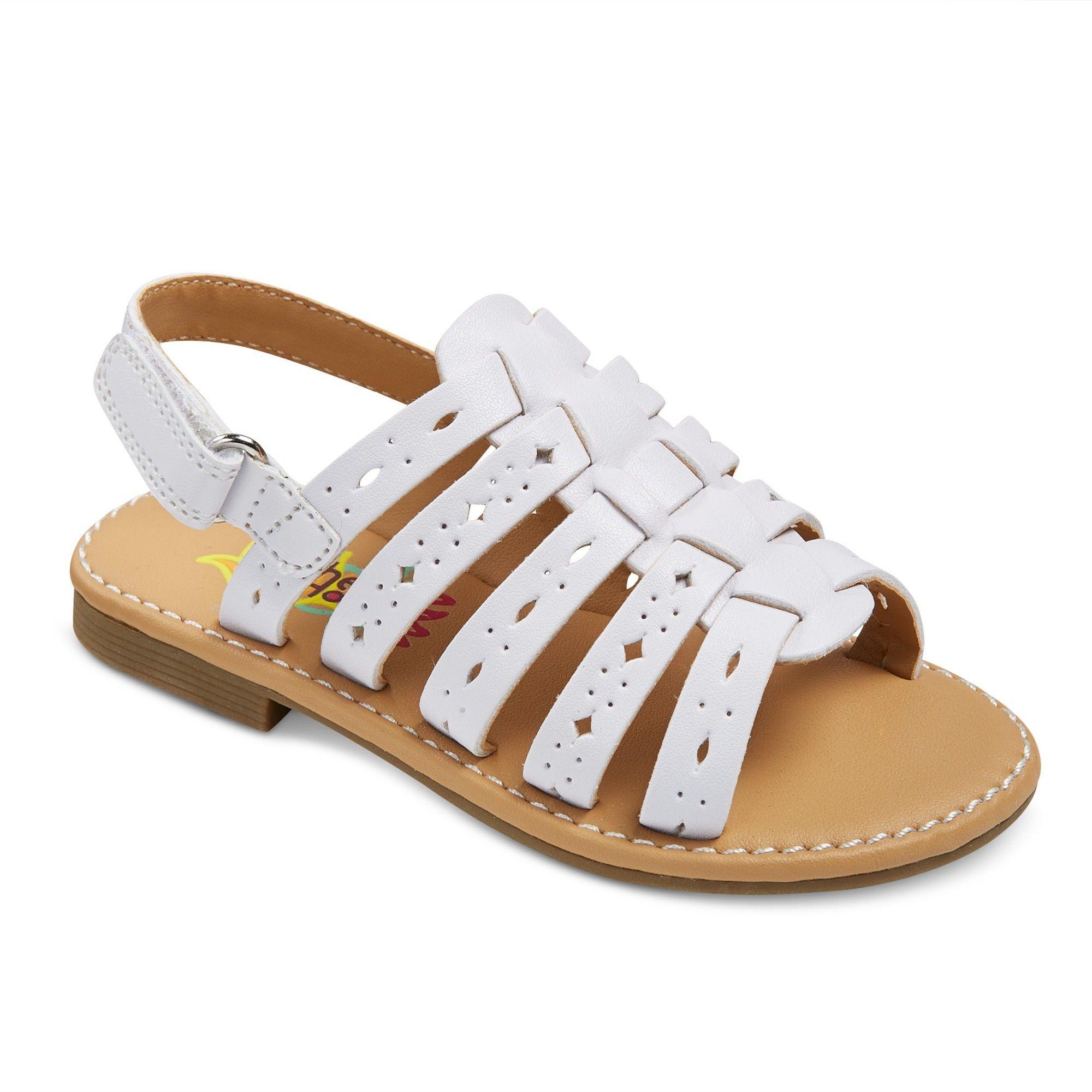 3da4a4fac474 Toddler Girls  Rachel Shoes Lil Petra Quarter Strap Sandals - White ...