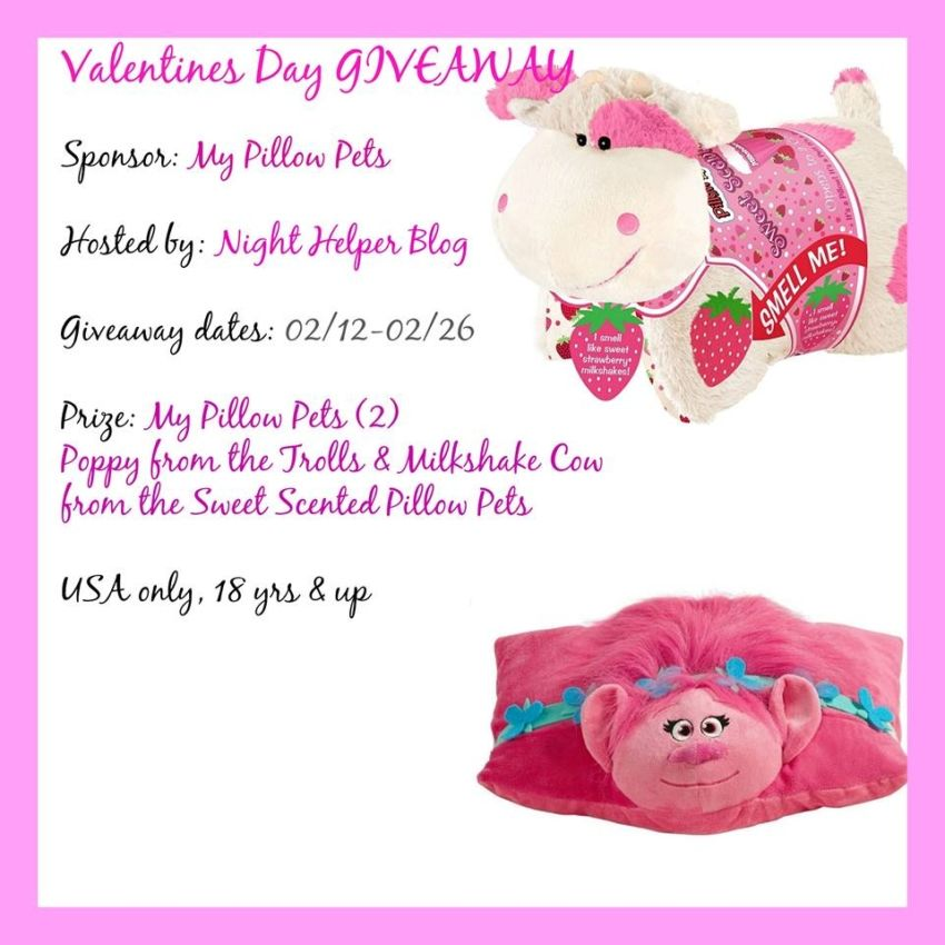My Pillow Pets Valentines Day Giveaway Ends 2 26 17 Animal Pillows Blog Giveaways Giveaway