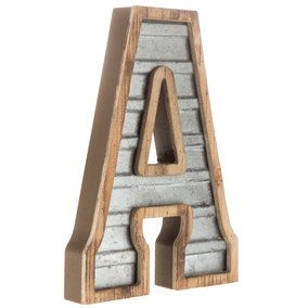 Galvanized Metal Letter Wall Decor A In 2020 Metal Letters Galvanized Metal Galvanized Decor