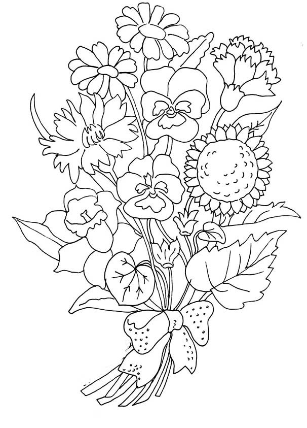 Flowers Coloring Pictures Printable Flowers Coloring Pages Kidsdrawing Free Coloring Pages Online Coloring Pictures Flower Coloring Pages Coloring Pages