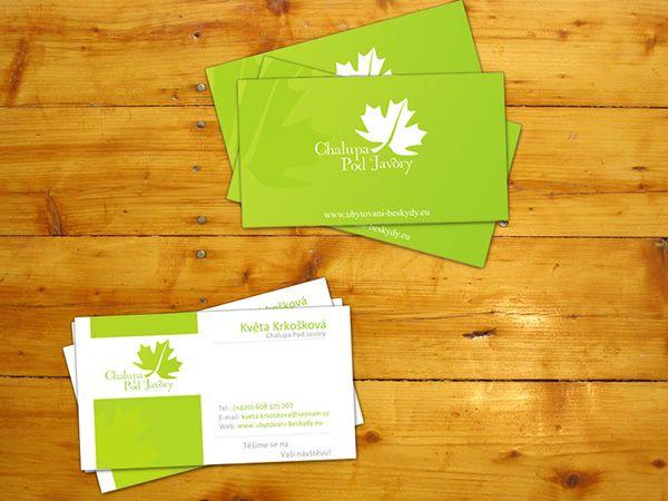 Nice and clean business card sample of Krkoska family hotel - business card sample