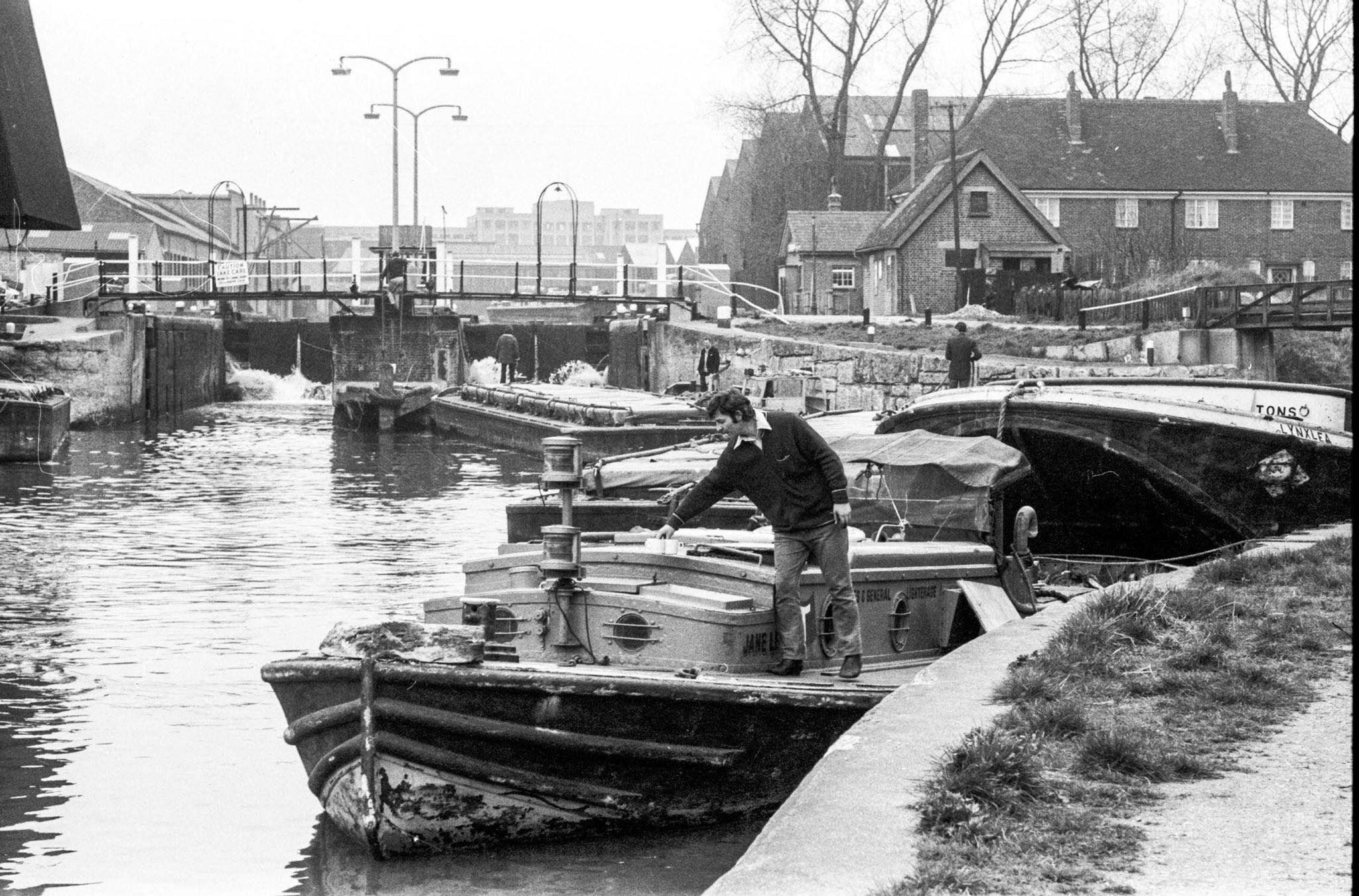 Old Ford Locks River Lea 1971 London Docklands Canals