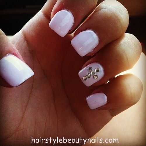 White Nails With Cross Design Hairstyles Beauty And Nails