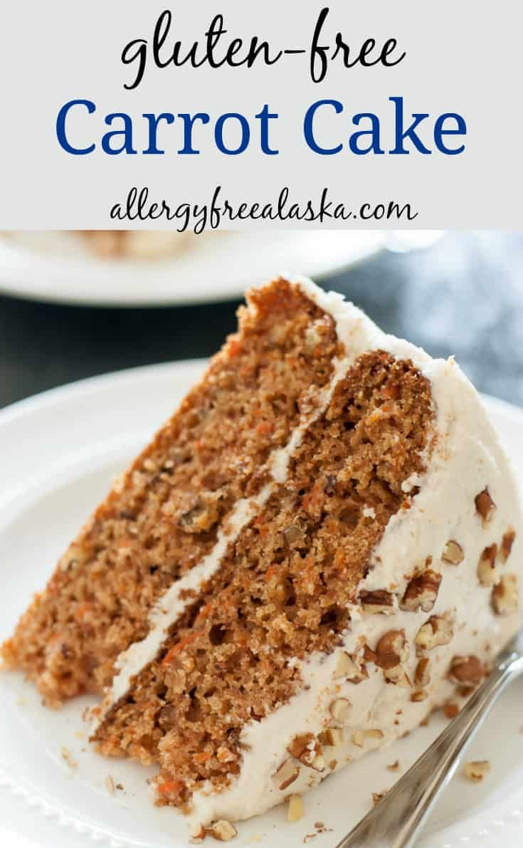 Gluten Free Carrot Cake This Gluten Free Carrot Cake is tender and moist, with a fluffy vanilla frosting that literally melts in your mouth. Everyone loves this recipe!
