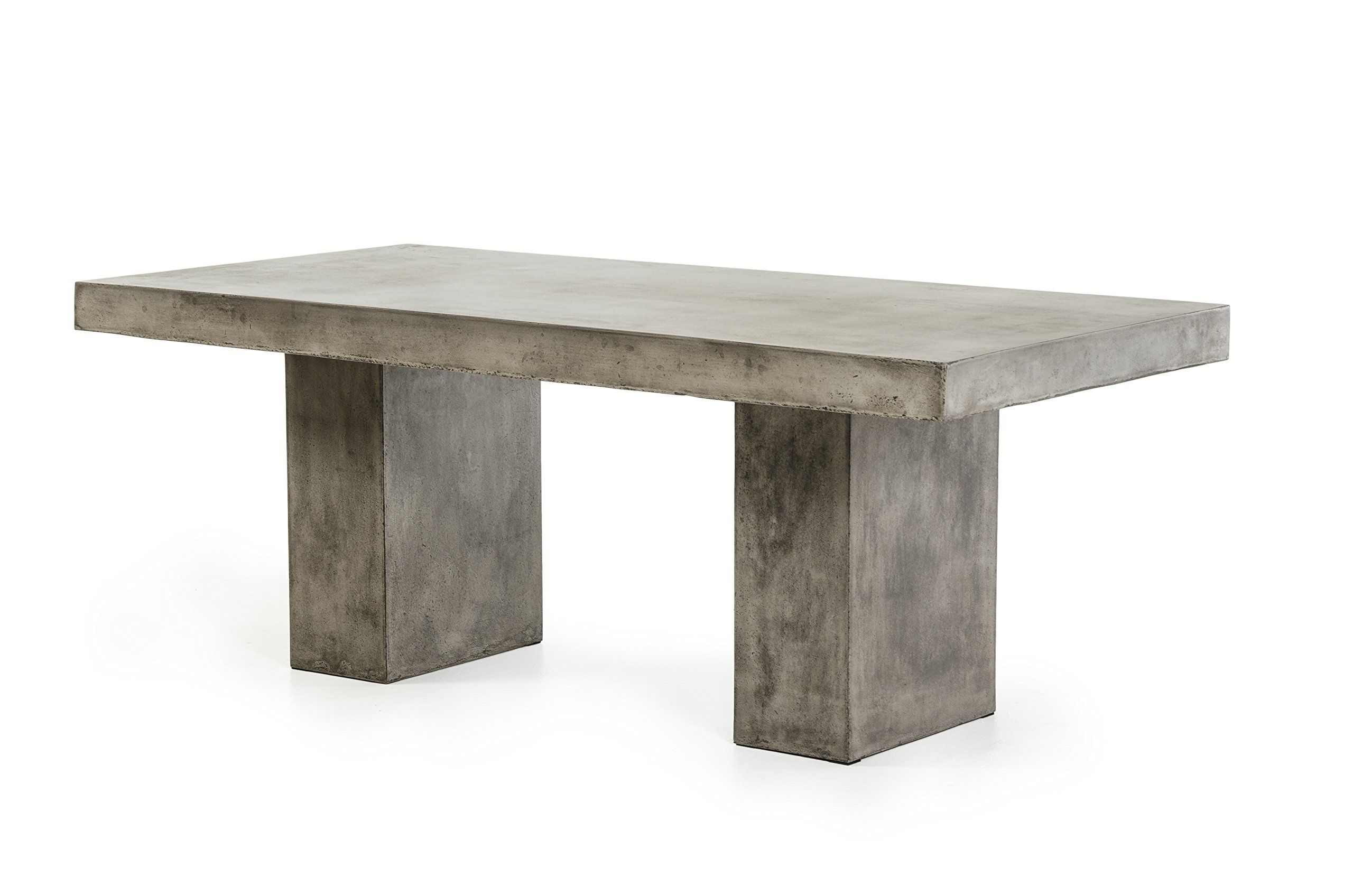 minimalist modern industrial office desk dining. Limari Home Rainie Collection Minimalist Industrial Style Concrete Rectangular Dining Table With Clean Lines, Dark Modern Office Desk