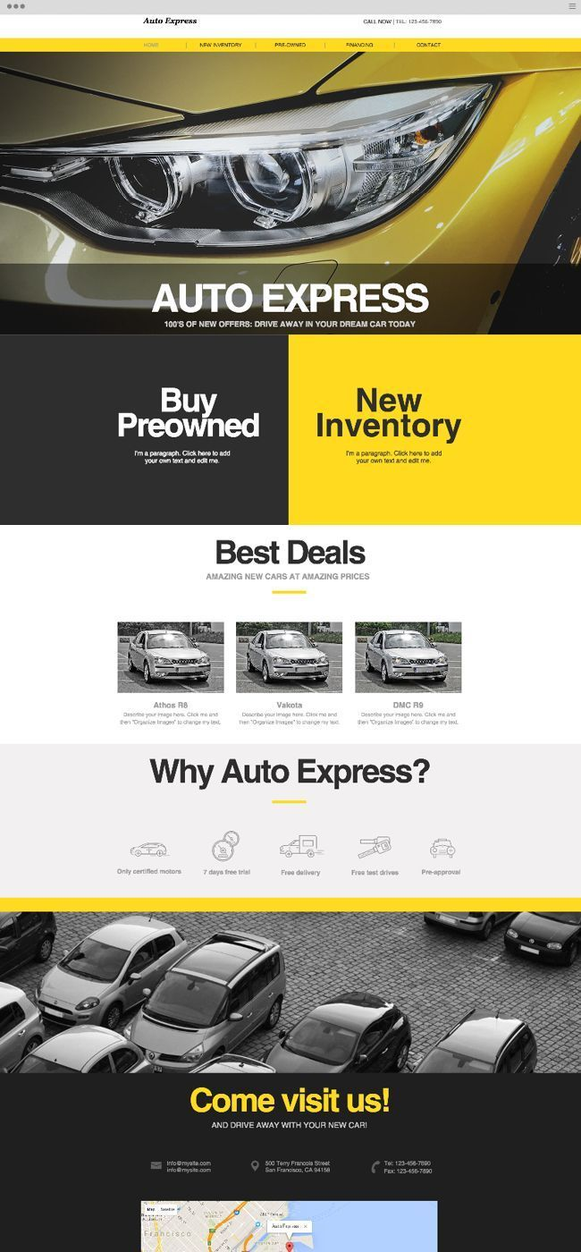 Car Showroom Website Template Wix Blog Blogging With Wix Is Easy