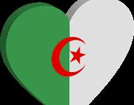 صورة علم الجزائر تصميم علم الجزائر صورة العلم الجزائري 3d