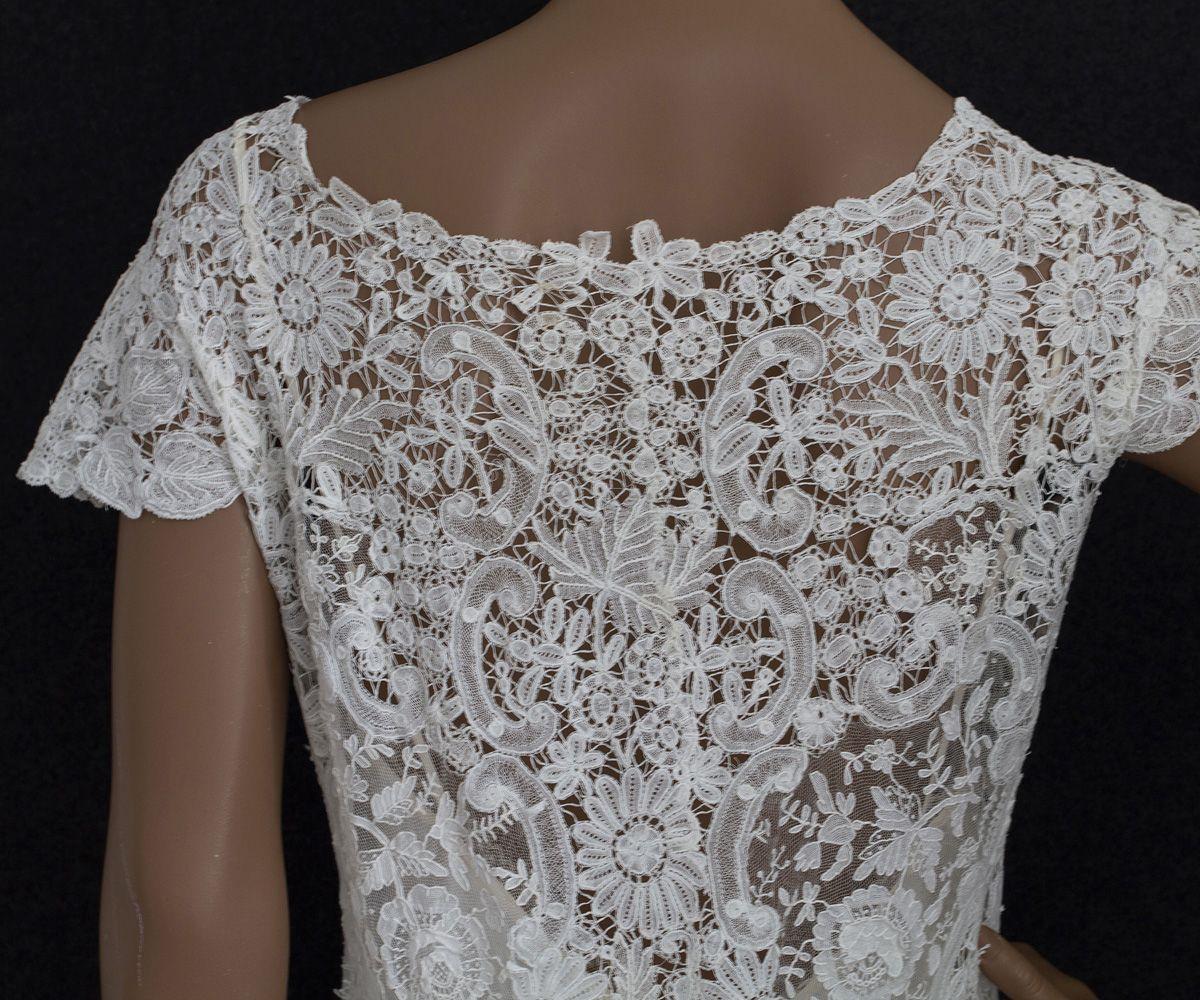Brussels handmade lace wedding dress c