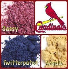 Support your favorite team with Younique pigments!  32 colors to pick from!!! #STLCardinalsforever #lovemyteamscolors