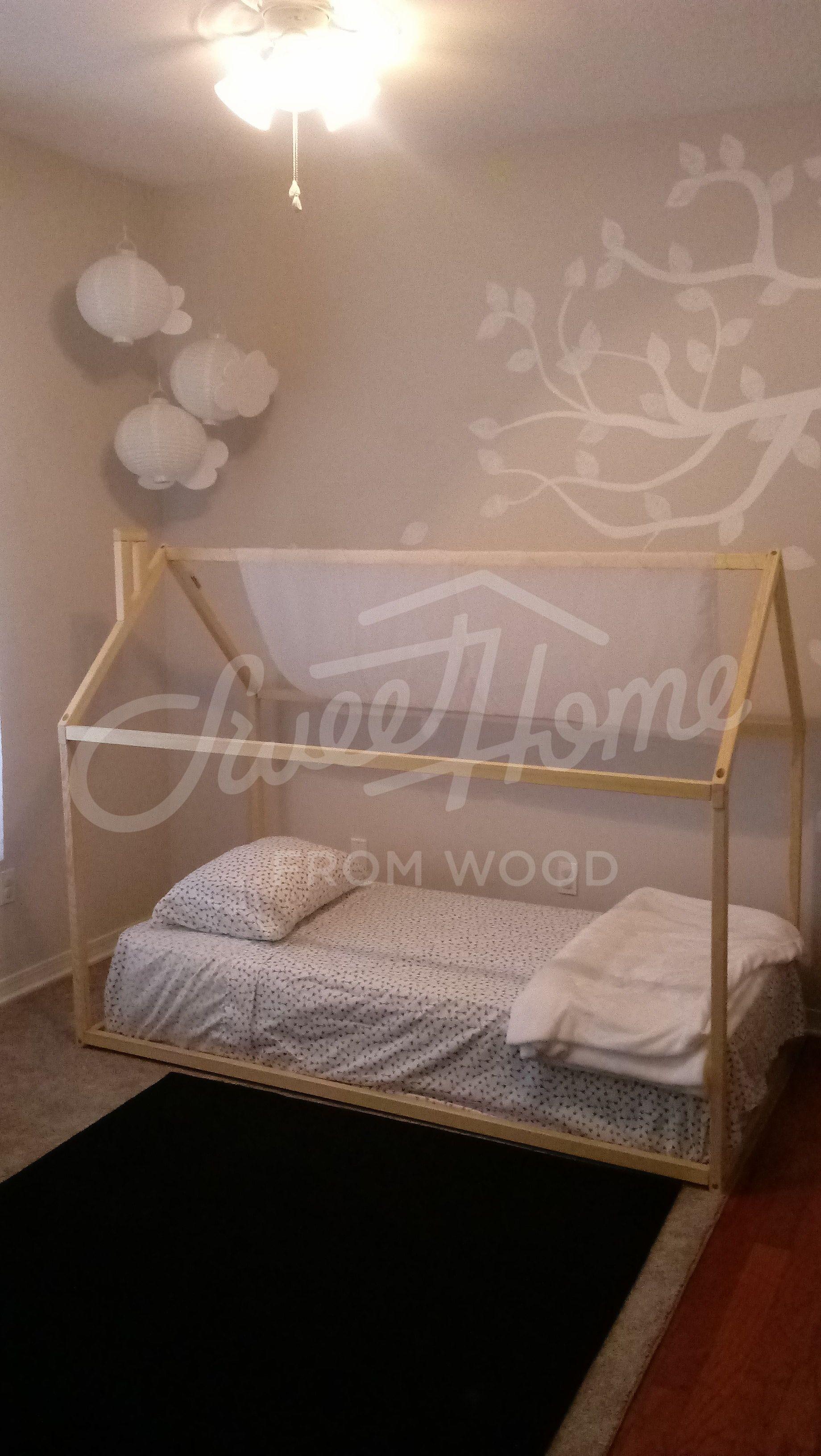 Toddler Bed House Shaped Bed Loft Bed Nursery Wood House Bed Etsy Bed Tent Kids Room Murals Kids Bed Frames