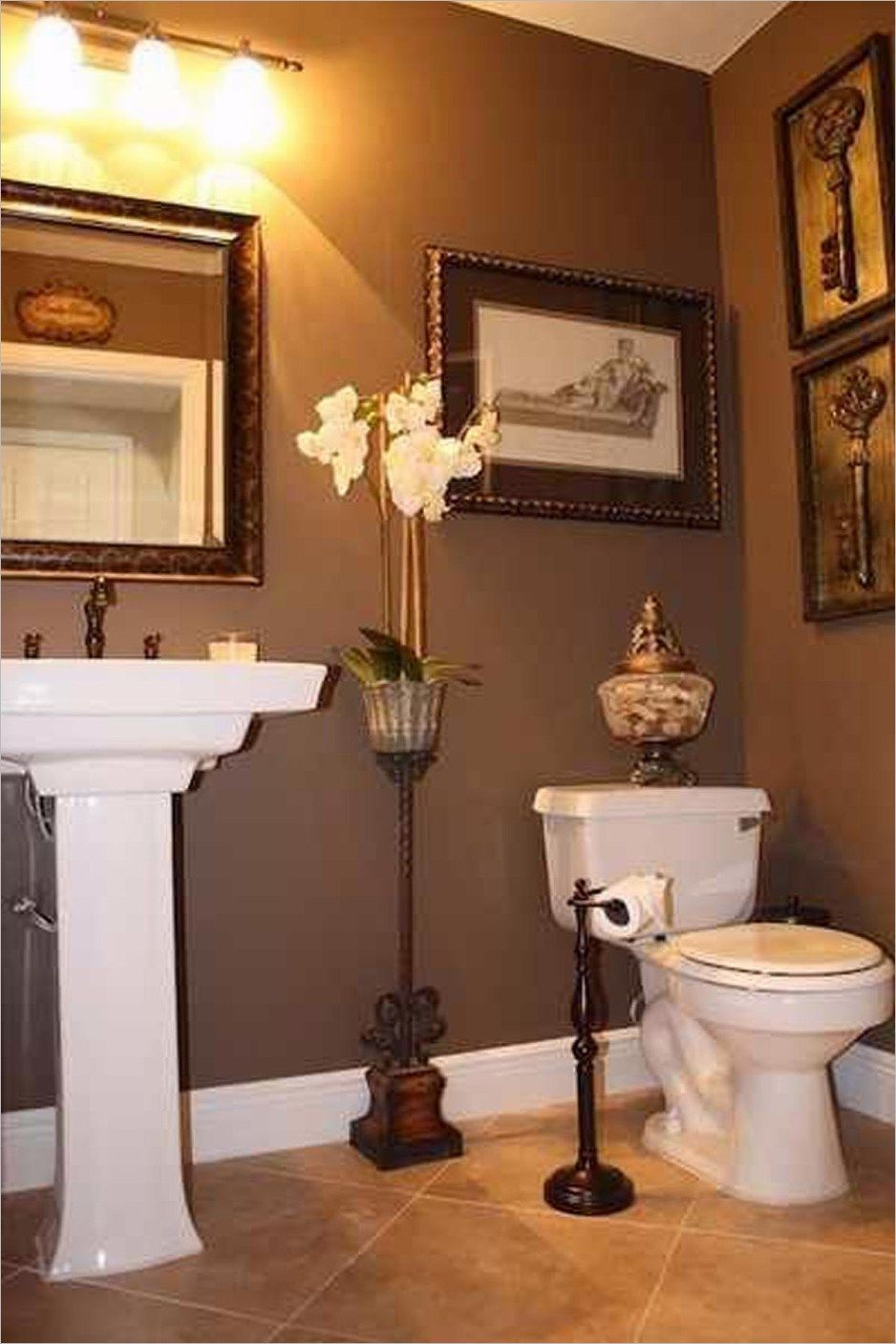 Bathroom Accessories Decorating Ideas Half Bathroom Decor