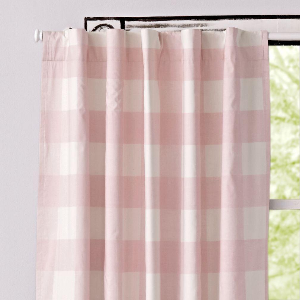 Light pink curtains - Buffalo Check Pink Blackout Curtains