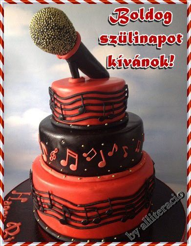 Sz 252 Let 233 Snap K 233 Peslap Mikrofon Hangjegyes Torta Cake