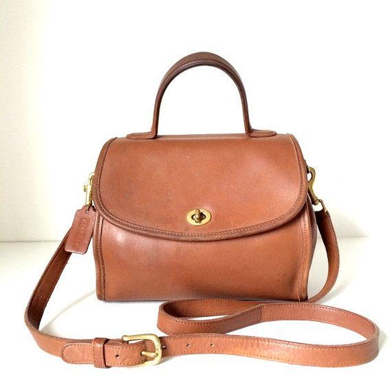 Vintage COACH Plaza Court Leather Satchel Bag  by pascalvintage