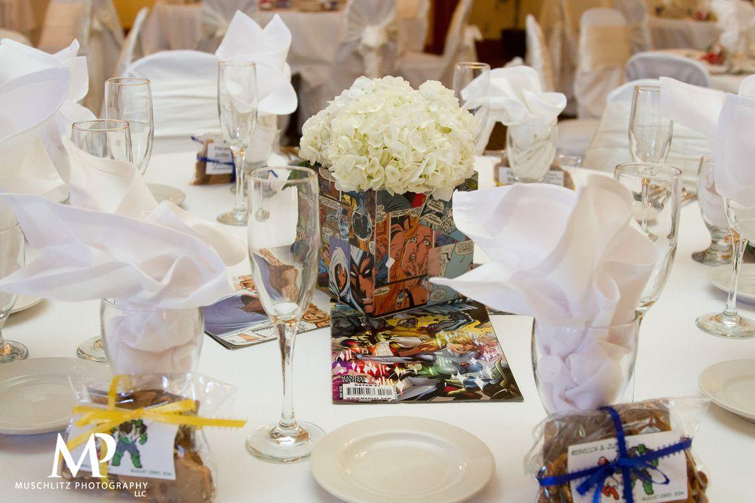 Comic Book Centerpieces | Marvel Comic Book Wedding Ideas ...