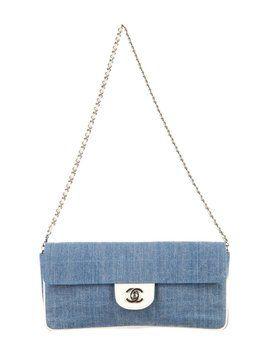 2380cb36db9b Chanel East West Denim Flap Shoulder Bag | Cool shoulder bags ...