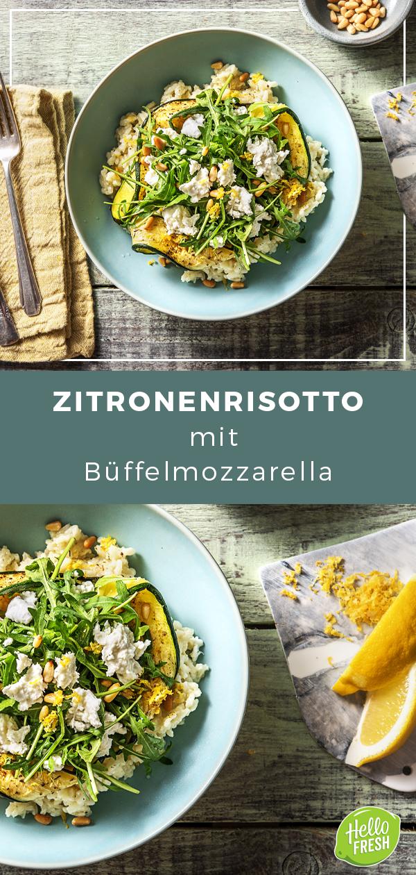 Zitronenrisotto mit Büffelmozzarella Pinienkernen Ofenzucchini und Rucola Zitronenrisotto mit Büffelmozzarella Pinienkernen Ofenzucchini und Rucola Zitrone  Ris...