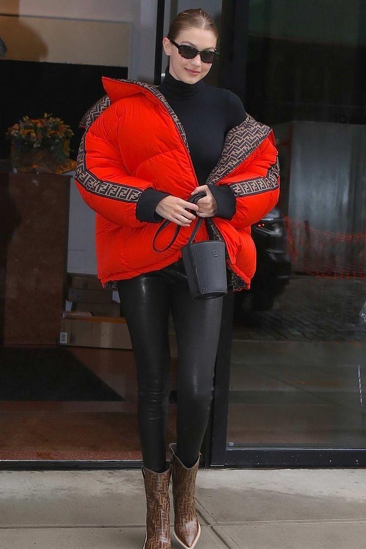 Pin By Ivyannirish On Fendi Fendi Puffer Jacket Red Puffer Jacket Puffer Jacket Outfit [ 1125 x 750 Pixel ]