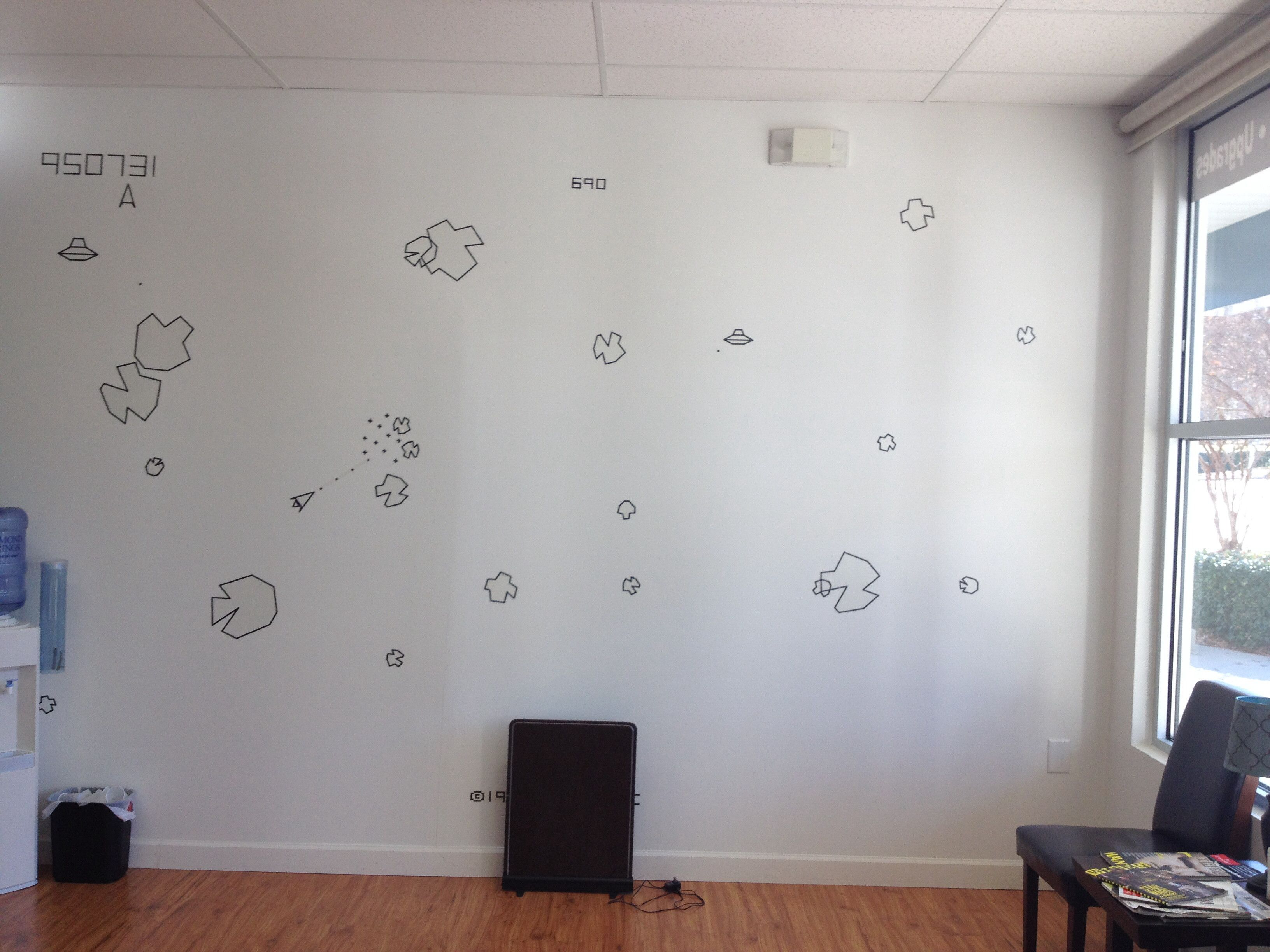 Asteroids Inspired Wall Via Reddit User Rayferrr Home
