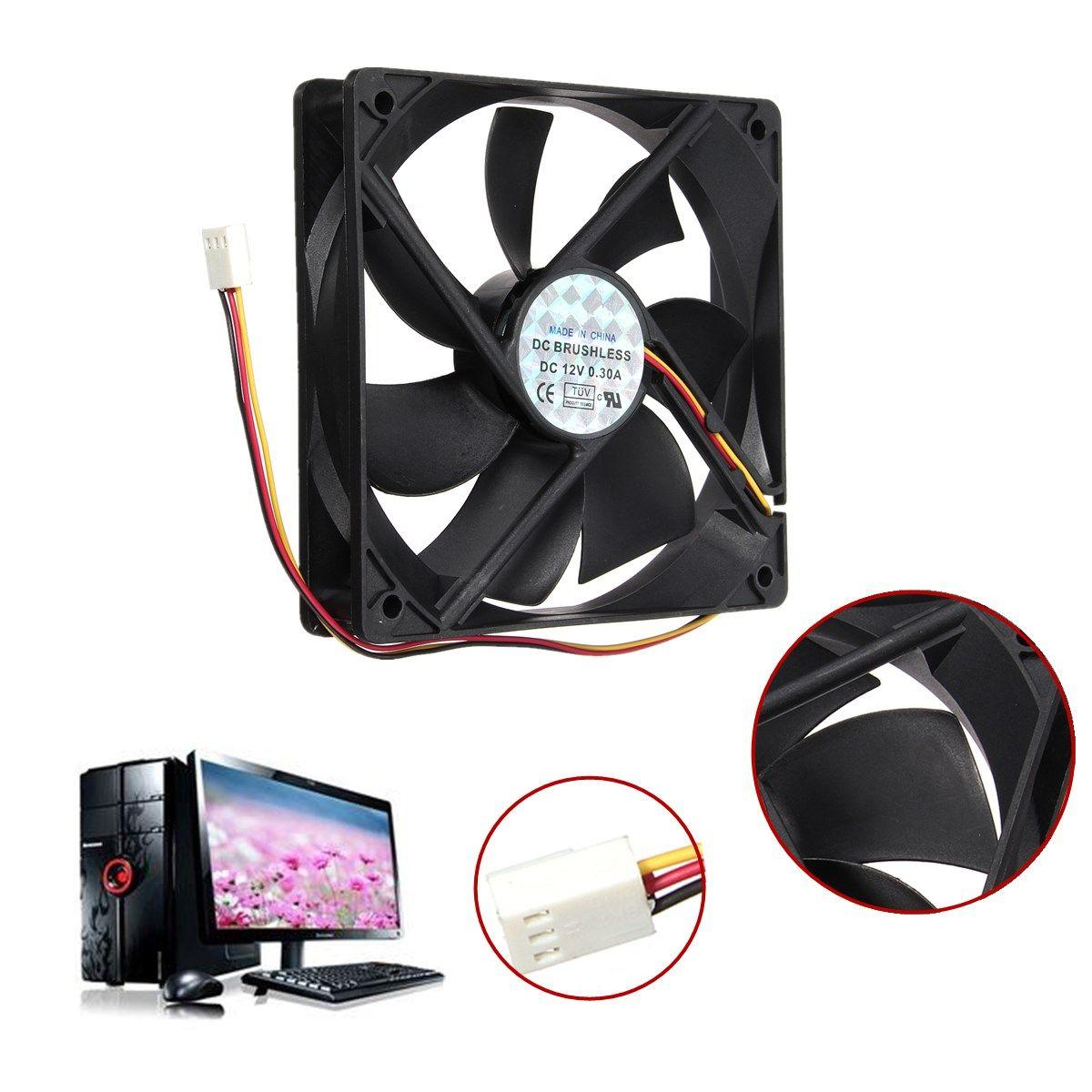 Universal 12v 3pin Standard Silent Computer Cpu Cooler Cooling Fan