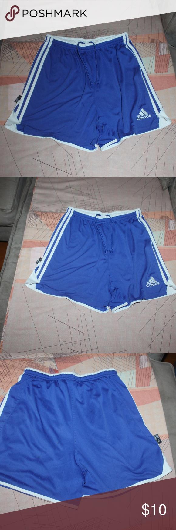 ADIDAS CLIMALITE blue and white striped shorts Adidas