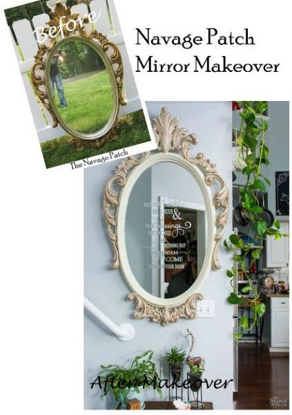 The Navage Patch Ornate-Mirror-Makeover Found the ornate mirror on Craigslist for $80.00