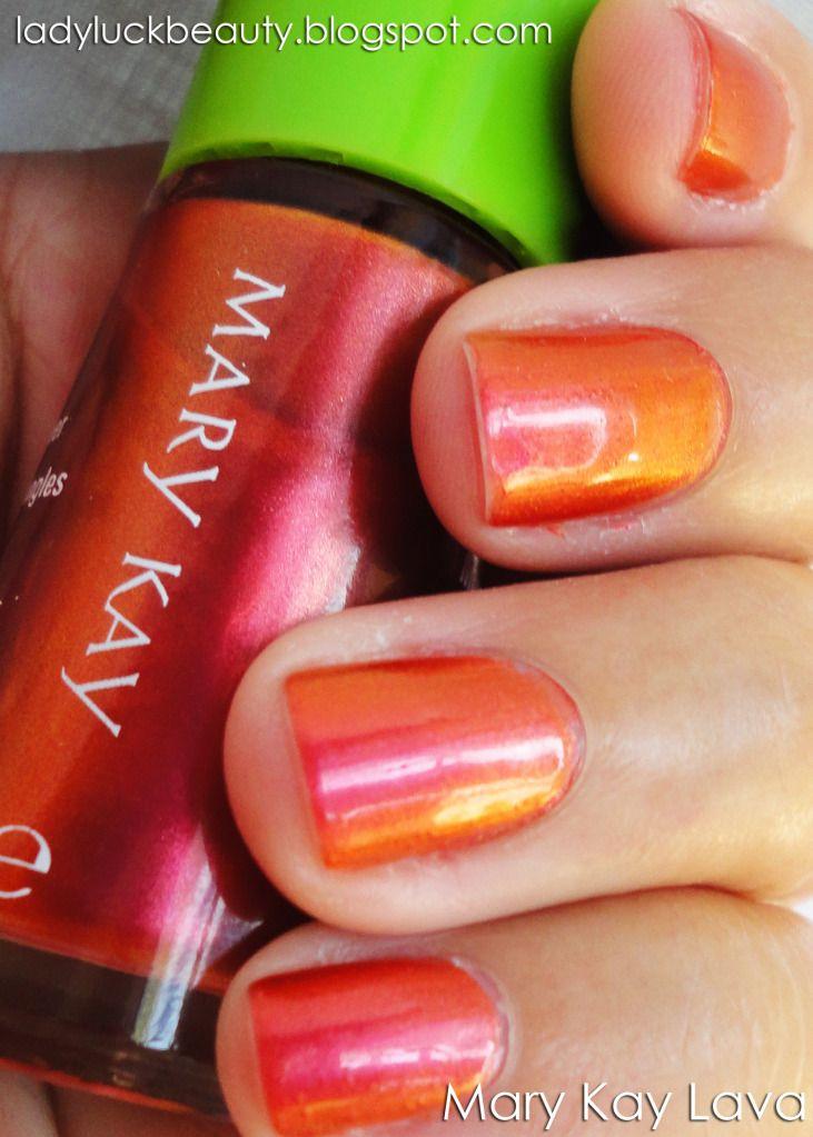 Lava Ladyluck Beauty Nail Polish Mary Kay Lava