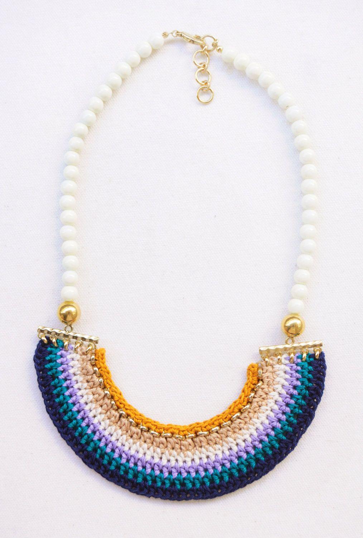 crochet necklace | Complementos | Pinterest | Collares, Bisutería y ...