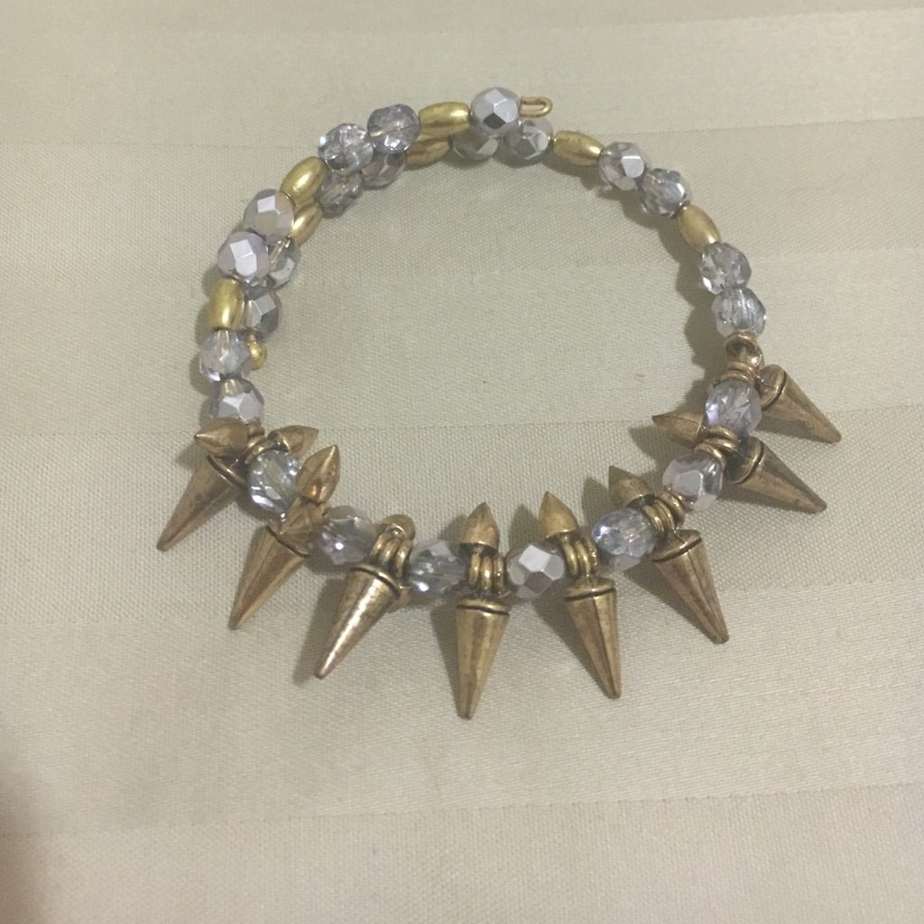 Gold And Purple Alex Ani Spiked Bracelet