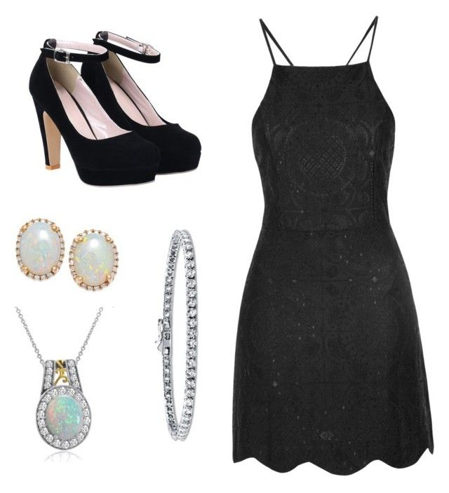 """""""Untitled #65"""" by jordvont on Polyvore featuring Glamorous, Amanda Rose Collection and BERRICLE"""