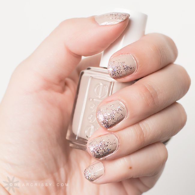 Nails. Essie Sand Tropez + Pure Ice Spit Fire glitter. | Nails ...