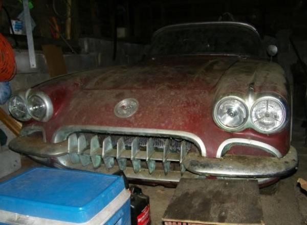 1958 Corvette Garage Find | Corvette, 1958 corvette, Barn ...