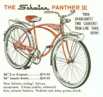Schwinn panther 3 1961-1962 | Schwinn -1895 | Cruiser