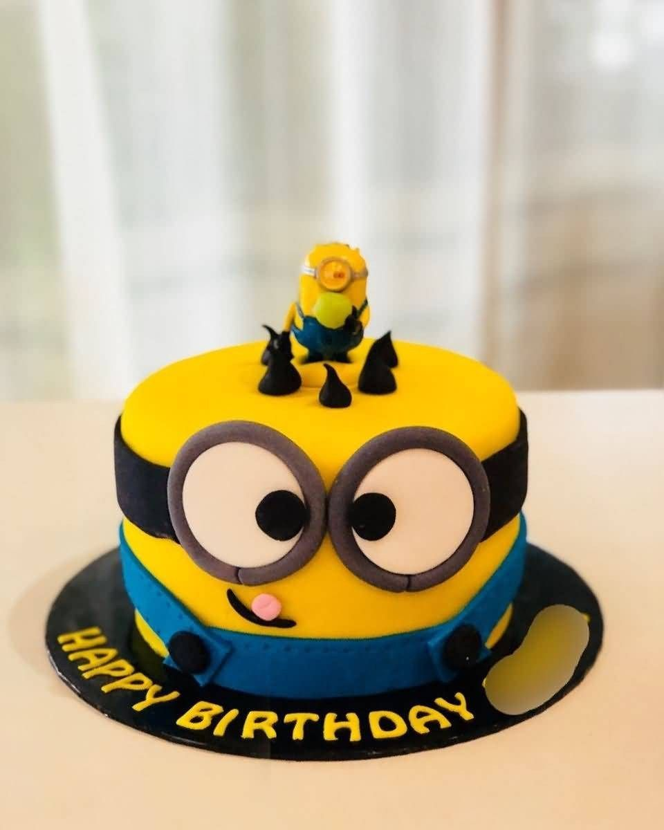 Minion Birthday Cake Happy Birthday Day Cake Hd Image Minion Cake The Ask Idea With Images Minion Birthday Cake Happy Birthday Minions Minion Birthday