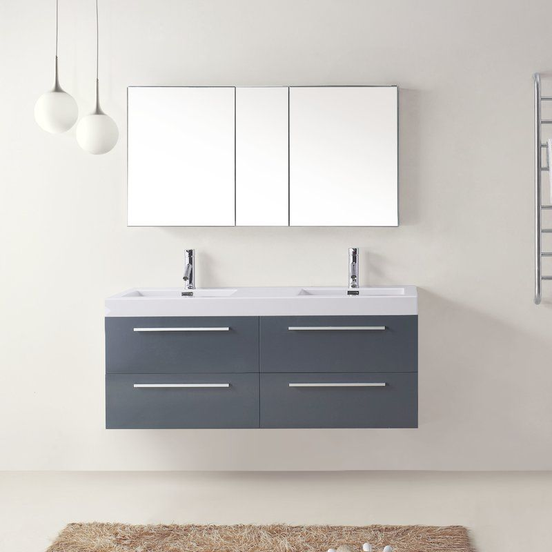 Cartagena 54 Double Bathroom Vanity Set With White Top Double