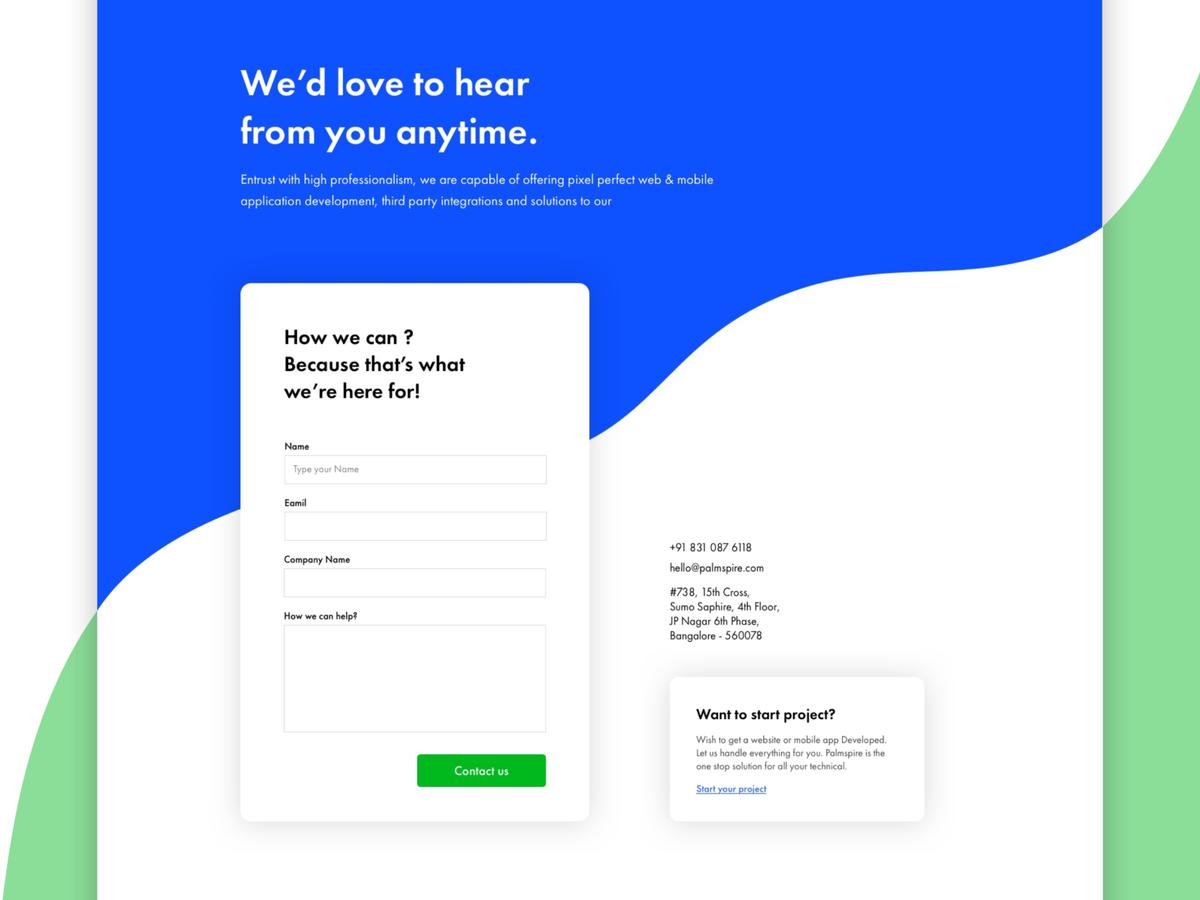 Contact Us In 2021 Simple Web Design Web Design Page Design