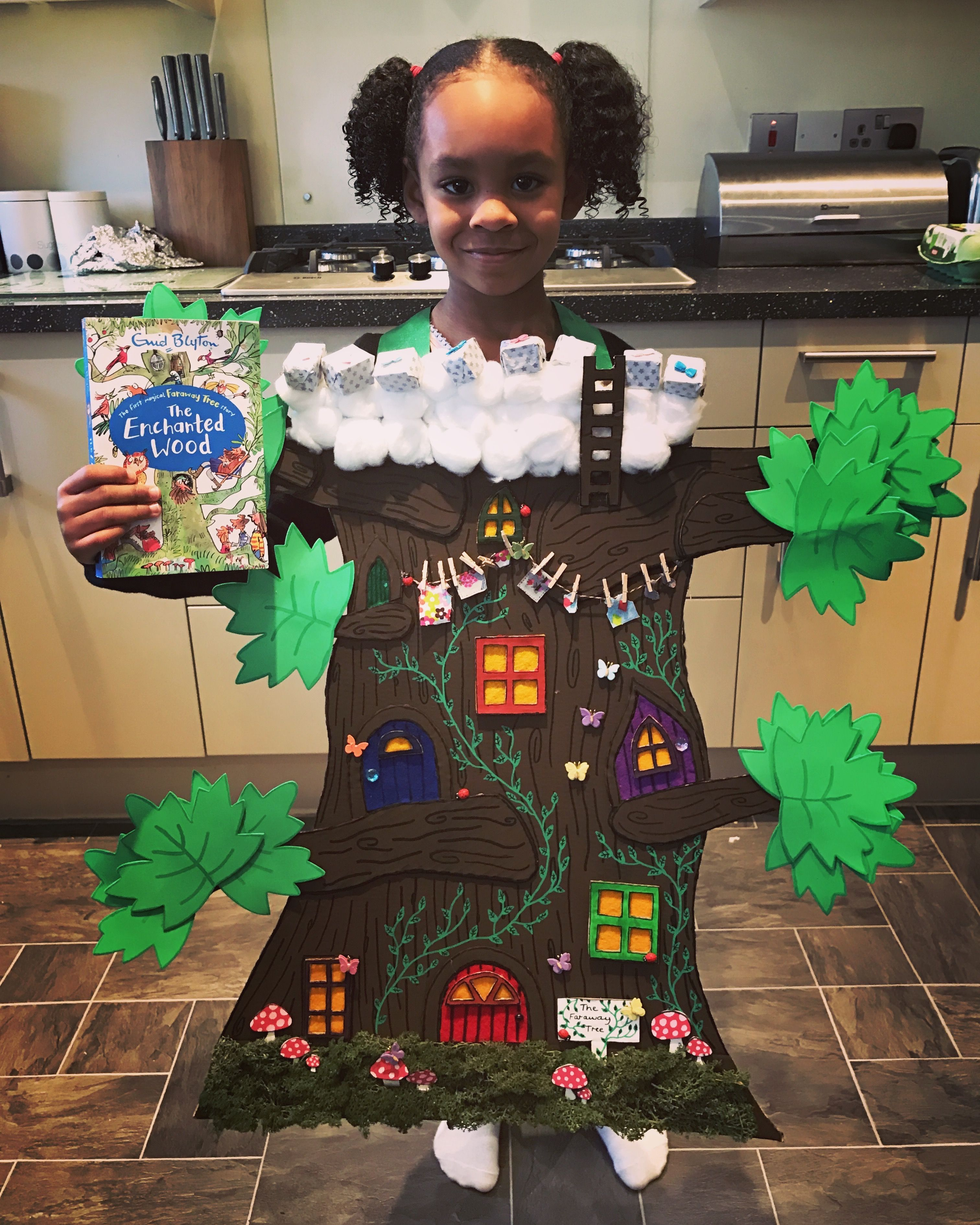 b79e64a253 Wearable DIY Faraway Tree costume for World Book Day 2017. Based on The  Enchanted Wood by Enid Blyton.