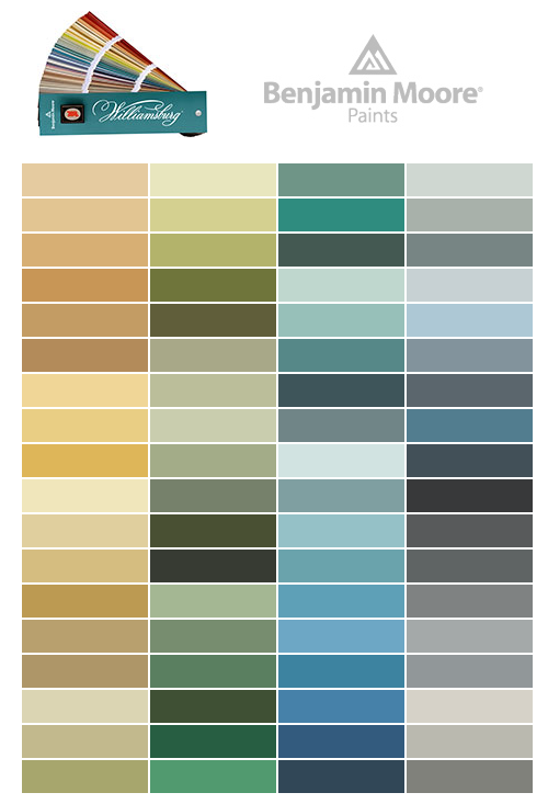 The williamsburg color collection interior design - Federal style interior paint colors ...
