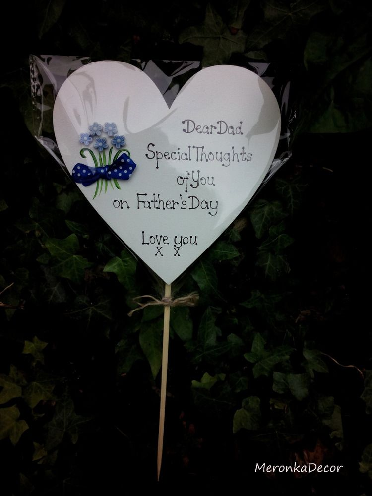 Dadmum birthday fathers day memorial grave ornament