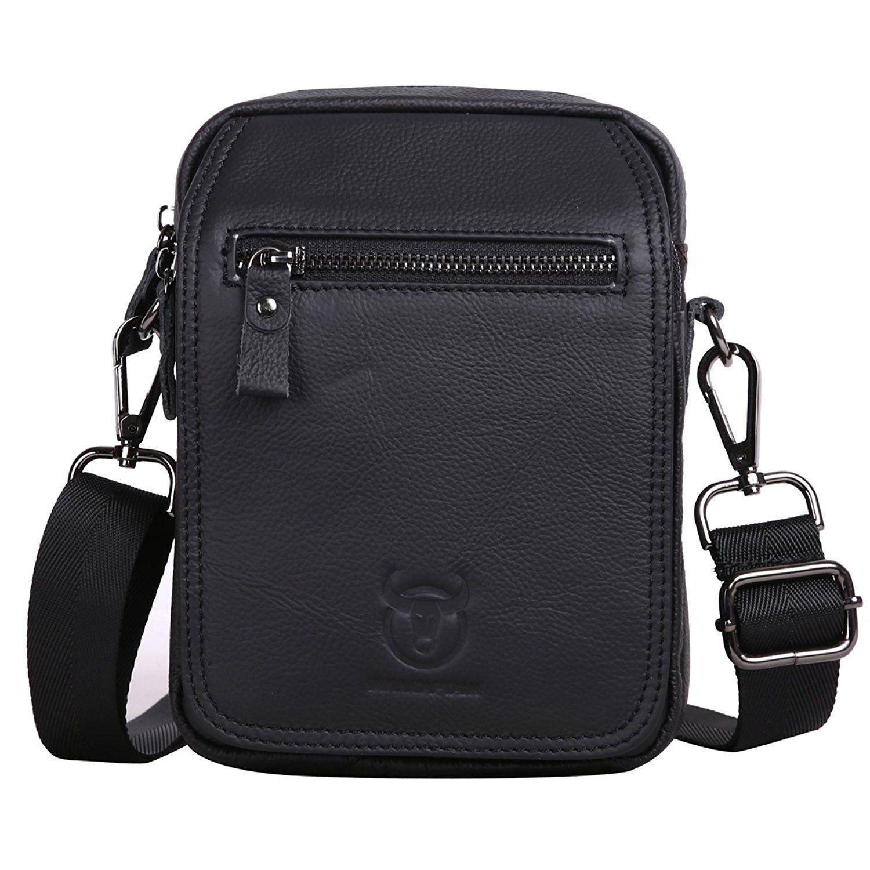8052bbebf7e Leathario Retro Mens Leather Messenger shoulder bag Satchel crossbody bag     For more information,