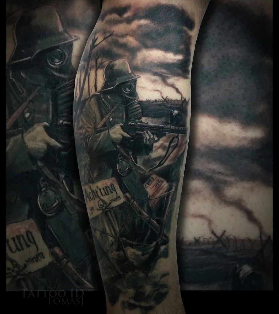 war tattoo ww1 tattoo black and gray tattoos tetov l s pinterest grey tattoo war. Black Bedroom Furniture Sets. Home Design Ideas