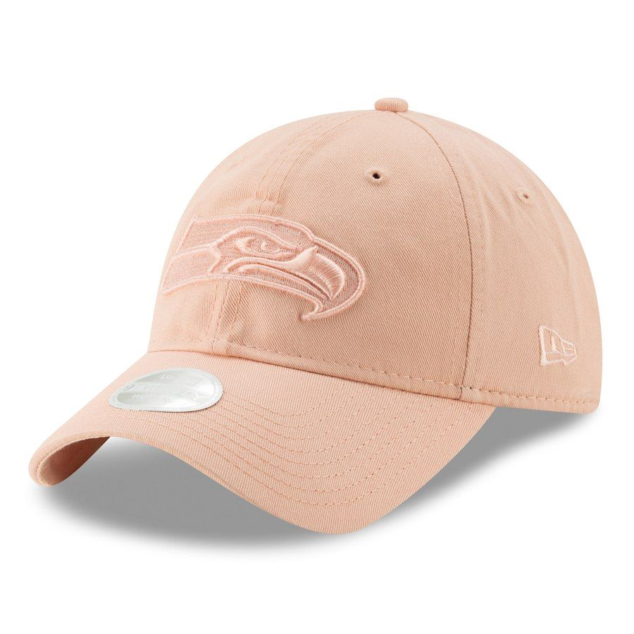 991a3b6dd95 Women s Seattle Seahawks New Era Light Pink Core Classic Fashion 9TWENTY Adjustable  Hat