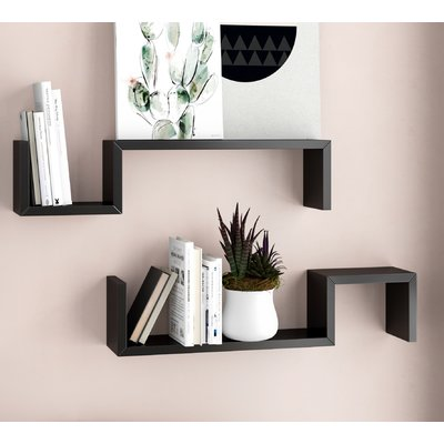 Evonne 2 Piece Wall Shelf Set Set Of 2 Floating Shelves