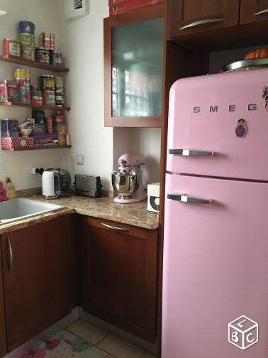 frigo cong lateur smeg rose sweet home d co kitchen. Black Bedroom Furniture Sets. Home Design Ideas