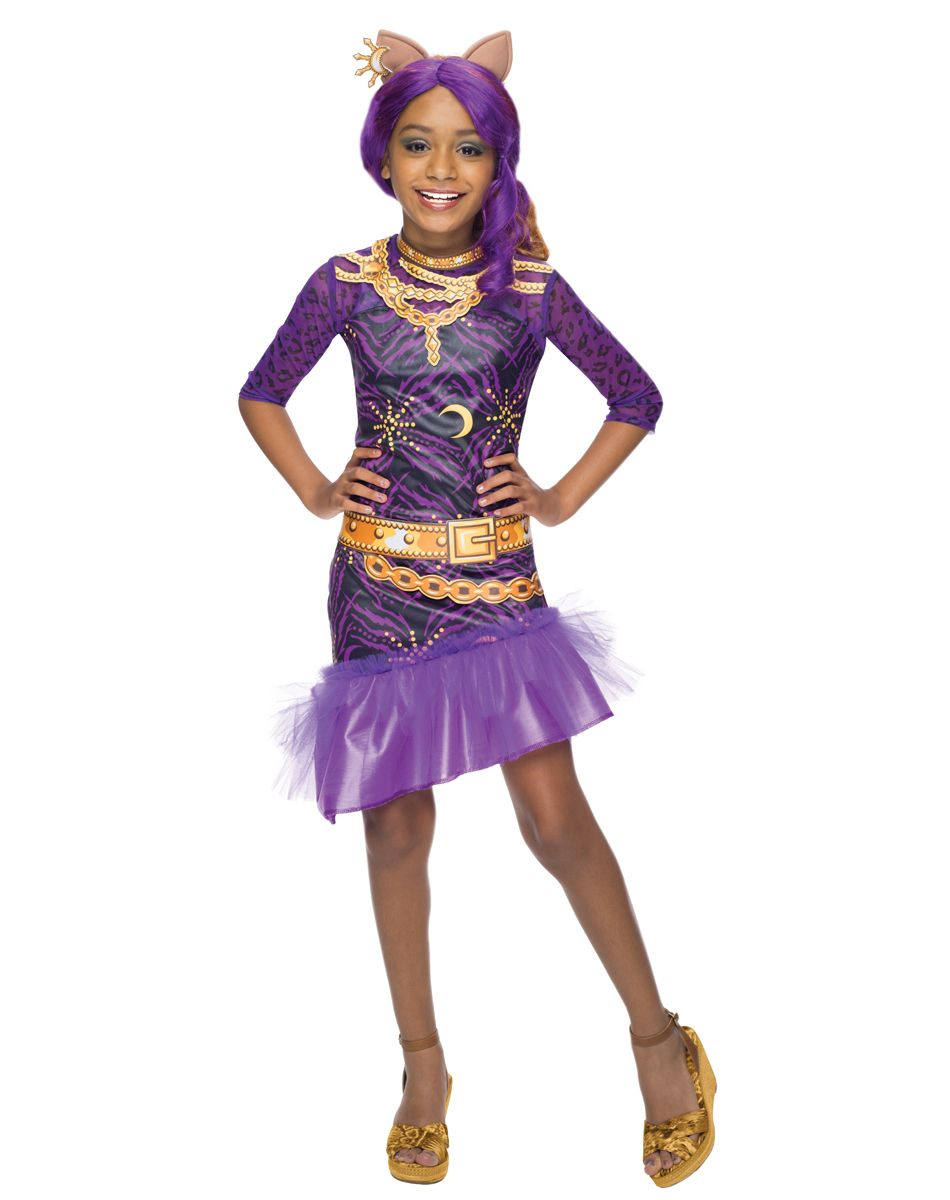 monster high frights, camera, action! clawdeen wolf girls costume