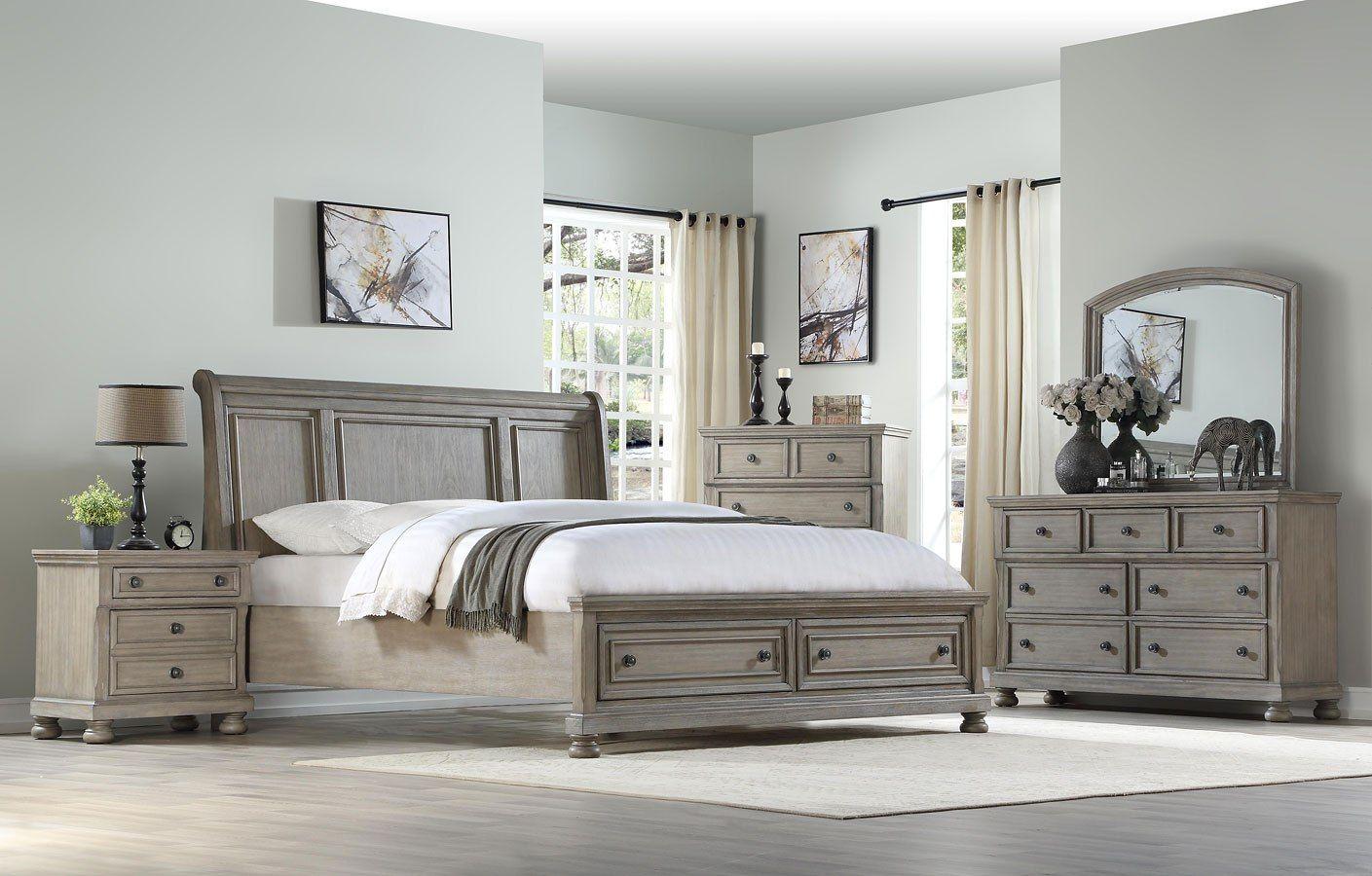 Ashcott Sleigh Storage Bedroom Set Furniture, Home