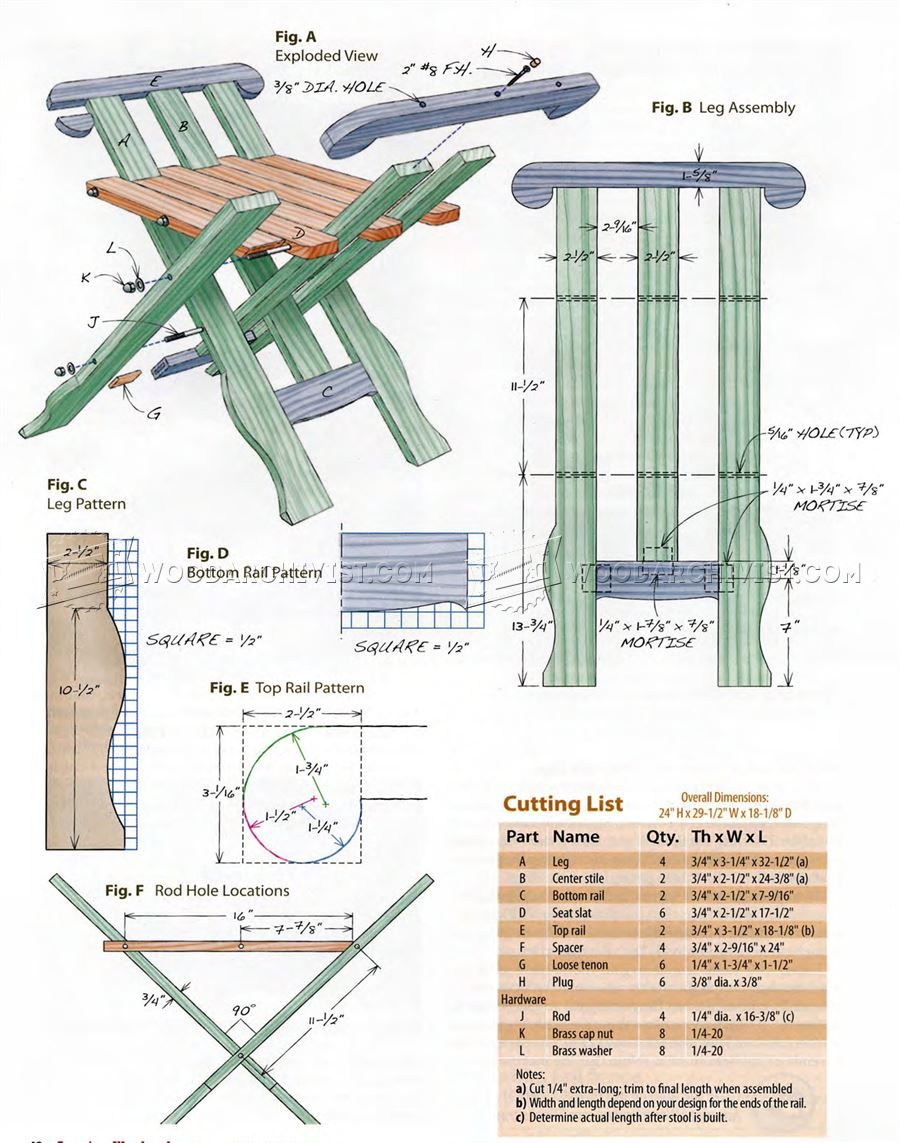 #731 Medieval Folding Stool Plans - Furniture Plans  sc 1 st  Pinterest : folding wooden stool plans - islam-shia.org