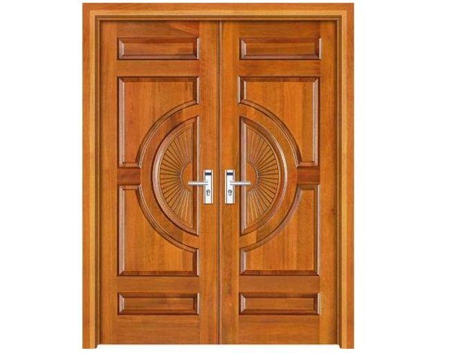 Double Hand Sun Design Hand Carving Main Door Design Wooden Main