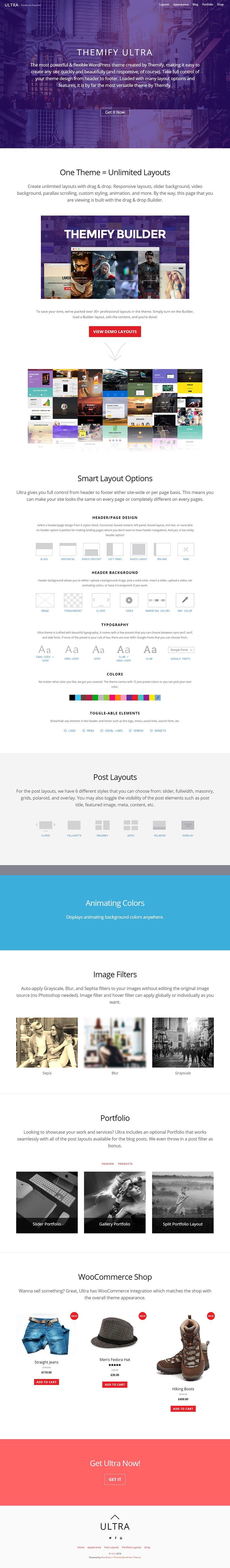 Ultra Wordpress theme, Theme, Wordpress