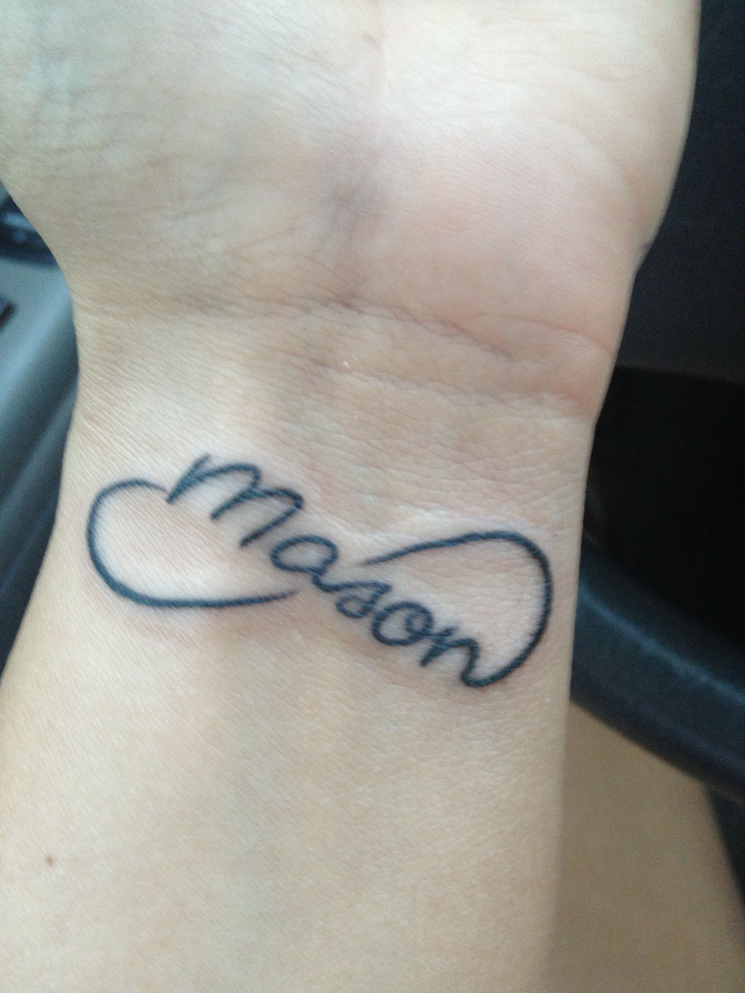 Infiniti Mason Tatoo I Want This But Instead With To Ibfinity And My Sis Matching With And Beyond Mother Tattoos Different Tattoos Tattoo Quotes